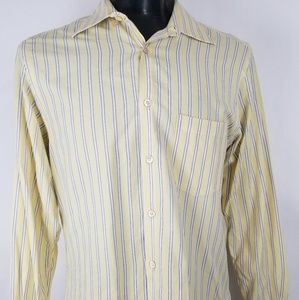 Men's Ermenegildo Zegna Yellow Dress Shirt Striped